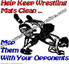 Help Keep Wrestling Mats Clean ....